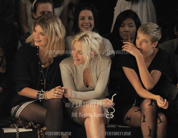 Pixie Geldof, Jaime Winstone, Agyness Deyn at the Henry Holland Show, London Fashion Week. 18/09/2010  Picture by: Simon Burchell / Featureflash