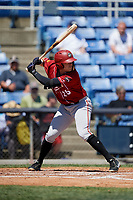 Altoona Curve first baseman Will Craig (25) at bat during a game against the Binghamton Rumble Ponies on June 14, 2018 at NYSEG Stadium in Binghamton, New York.  Altoona defeated Binghamton 9-2.  (Mike Janes/Four Seam Images)