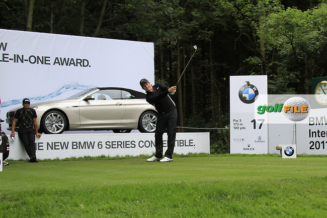 Matt Haines (ENG) tees off on the par3 17th tee during Day 1 of the BMW International Open at Golf Club Munchen Eichenried, Germany, 23rd June 2011 (Photo Eoin Clarke/www.golffile.ie)