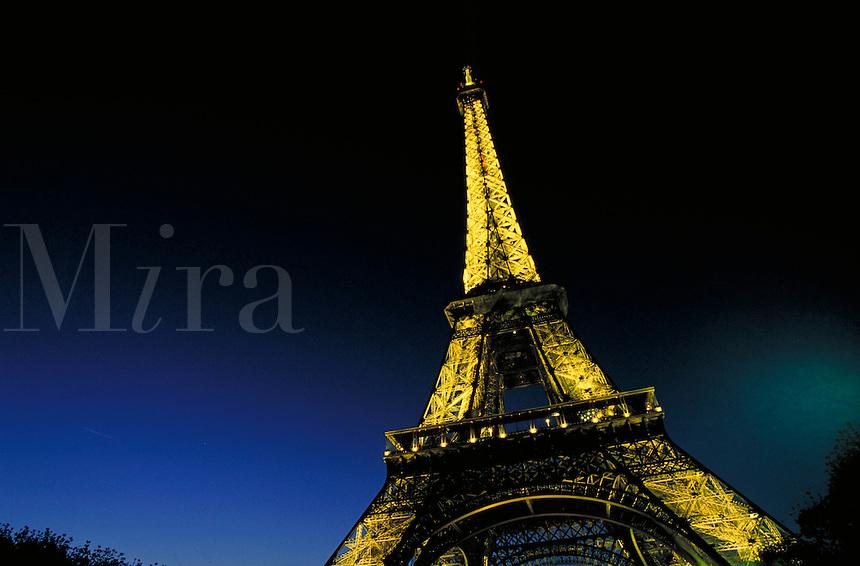 Eiffel Tower at night. Paris, France. Paris, France Eiffel Tower.