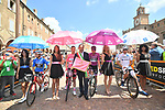 The jersey leaders lined up for the start of Stage 11 of the 2019 Giro d'Italia, running 221km from Carpi to Novi Ligure, Italy. 22nd May 2019<br /> Picture: Massimo Paolone/LaPresse | Cyclefile<br /> <br /> All photos usage must carry mandatory copyright credit (© Cyclefile | Massimo Paolone/LaPresse)