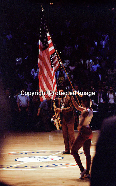 Grover Washington <br /> Philly Spectrum National Anthem 1981 NBA Conference Finals 76ers VS Celtics