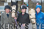 READY: Getting their horses ready at the Muckross Hunt last Sunday were, l-r, Felicity Parsons, Knocknagoshel, Shannon Maher, Rathmore, and Cliodhna ODonoghue, Killarney..