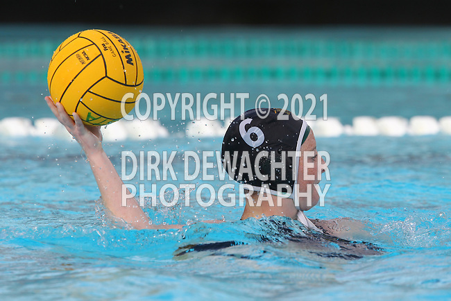 Manhattan Beach, CA 02/16/11 - Victoria Southwood (Mira Costa #6) in action during the 2011 first round CIF girls waterpolo playoffs between Edison and Mira Costa.