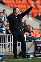 Blackpool manager Gary Bowyer gestures<br /> <br /> Photographer Richard Martin-Roberts/CameraSport<br /> <br /> The EFL Sky Bet League Two Play-Off Semi Final First Leg - Blackpool v Luton Town - Sunday May 14th 2017 - Bloomfield Road - Blackpool<br /> <br /> World Copyright &copy; 2017 CameraSport. All rights reserved. 43 Linden Ave. Countesthorpe. Leicester. England. LE8 5PG - Tel: +44 (0) 116 277 4147 - admin@camerasport.com - www.camerasport.com