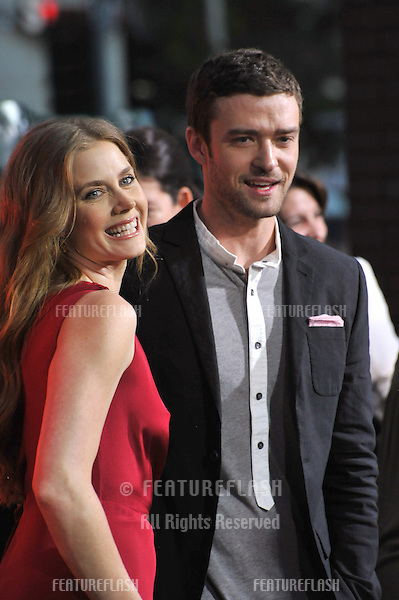 """Amy Adams & Justin Timberlake at the premiere of their movie """"Trouble With The Curve"""" at the Mann Village Theatre, Westwood..September 19, 2012  Los Angeles, CA.Picture: Paul Smith / Featureflash"""