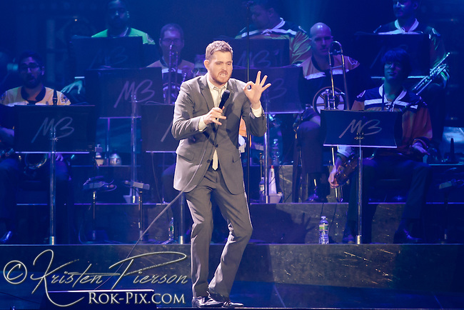 Michael Buble performing at the Dunkin Donuts Center in Providence on June 13, 2011
