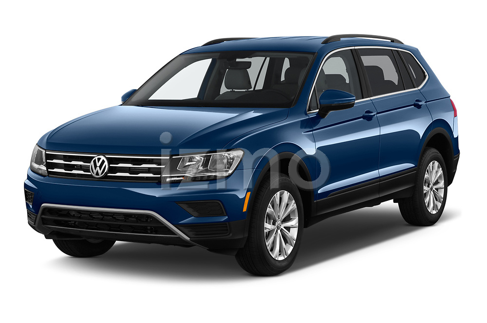 2019 Volkswagen Tiguan SE 5 Door SUV angular front stock photos of front three quarter view