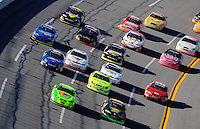 Apr. 24, 2009; Talladega, AL, USA; ARCA RE/MAX Series drivers race through the tri-oval during the RE/MAX 250 at the Talladega Superspeedway. Mandatory Credit: Mark J. Rebilas-
