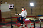 BG Media Day Lilleshall 15.10.15.Open training session ahead of the World Championships in Glasgow.Louis Smith MBE talks to the press.