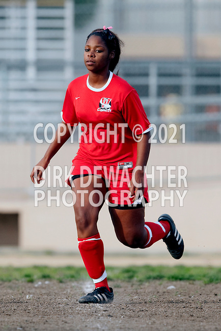 Los Angeles, CA 02/01/10 - Shamiah Bradford (Westchester #20) in action during the Westchester vs Fairfax Girls Varsity soccer game at Fairfax High School.