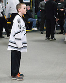 Kevin Rich (PC - 17) - The Providence College Friars warmed up prior to the Frozen Four final at TD Garden on Saturday, April 11, 2015, in Boston, Massachusetts.