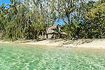 Hut on the beach on Nanuya Lai Lai Island in the Yasawa's, Fiji Islands
