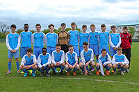 Mervue United U15 match squad photo.<br /> <br /> Aaron Connolly (At age 15) back row, fourth from left.<br /> <br /> Mervue United v Athenry, 9/5/15, Fahy's Field, Mervue, Galway.