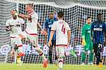 Phillipe Mexes of AC Milan celebrates after scoring during the AC Milan vs FC Internacionale as part of the International Champions Cup 2015 at the looks onnggang Stadium on July 25, 2015 in Shenzhen, China.  Photo by Aitor Alcalde / Power Sport Images