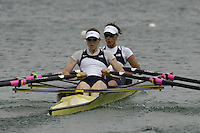 Munich, GERMANY, 2006, FISA, Rowing, World Cup, USA LW2X bow Renee Hykel and Julia Nichols. held on the Olympic Regatta Course, Munich, Thurs. 25.05.2006. © Peter Spurrier/Intersport-images.com,  / Mobile +44 [0] 7973 819 551 / email images@intersport-images.com..[Mandatory Credit, Peter Spurier/ Intersport Images] Rowing Course, Olympic Regatta Rowing Course, Munich, GERMANY