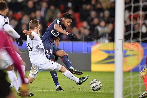 11.01.2017. Paris, France. French league cup football, Paris Saint Germain versus FC Metz. Christopher NKUNKU (psg) gets his shot on goal