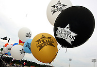 Balloons in the stadium during the WPS All-Star game at KSU Stadium in Kennesaw, Georgia on June 30 2010. Marta XI won 5-2.