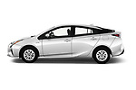 Car Driver side profile view of a 2017 Toyota Prius Two 5 Door Hatchback Side View
