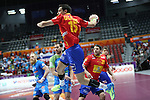 handball wordl cup match between Spain vs Slovenia. ugalde . 2015/01/23. Doha. Qatar. Alberto de Isidro.Photocall 3000