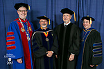 HDR/VIP Portraits - 2017 Commencement - College of Liberal Arts and Social Sciences, College of Science and Health: The Rev. Dennis H. Holtschneider, C.M., president of DePaul University, Guillermo V&aacute;squez de Velasco, dean of the College of Liberal Arts and Social Sciences, Craig W. Hartman, world-renowned architect, Gerald P. Koocher, dean of the College of Science and Health. <br /> , (DePaul University/Jamie Moncrief)