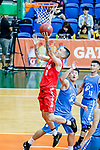 Glen Tang Robertson #00 of SCAA Men's Basketball Team goes to the basket against the Fukien during the Hong Kong Basketball League game between SCAA and Fukien at Southorn Stadium on June 01, 2018 in Hong Kong. Photo by Yu Chun Christopher Wong / Power Sport Images