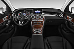 Stock photo of straight dashboard view of 2016 Mercedes Benz GLC-Class GLC300 5 Door SUV Dashboard