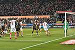 08.02.2019, Rheinenergiestadion, Köln, GER, DFL, 2. BL, VfL 1. FC Koeln vs FC St. Pauli, DFL regulations prohibit any use of photographs as image sequences and/or quasi-video<br /> <br /> im Bild die Mannschaft von Koeln jubelt nach dem Tor zum 3:1 Torschuetze Jhon Cordoba (#15, 1.FC Köln / Koeln)  <br /> <br /> Foto © nph/Mauelshagen