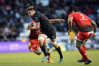 Elliott Stooke of Bath Rugby takes on the Toulon defence. European Rugby Champions Cup match, between RC Toulon and Bath Rugby on December 9, 2017 at the Stade Mayol in Toulon, France. Photo by: Patrick Khachfe / Onside Images
