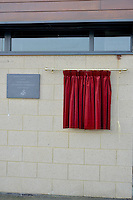 Friday 18th March 2016<br /> The new plaque<br /> Official opening of the Swansea City Landore Academy which includes a 3rd floor classroom, an extension and an indoor training barn