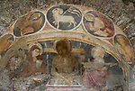 14th century fresco from a church built over the remains of a 2nd century roman house in the Campitelli  district of Rome.