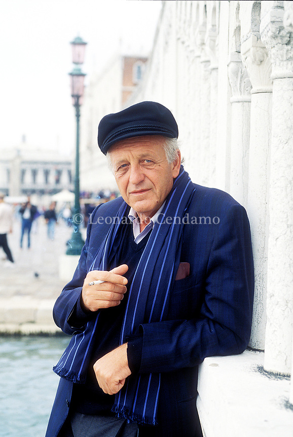 Venice, Italy. Francesco Biamonti, Ligurian writer. Venice 21 sepmtener 1998. © Leonardo Cendamo