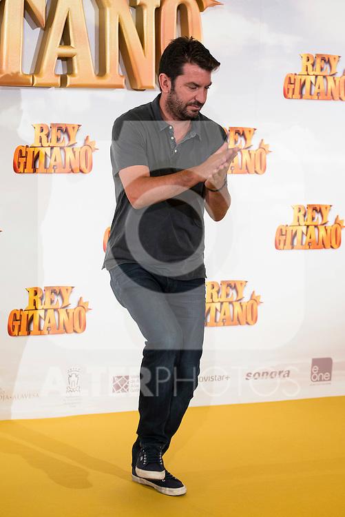 """Actor Arturo Valls pose during """"Rey Gitano"""" film presentation at Palafox Cinemas in Madrid, Spain. July 09, 2015.<br />  (ALTERPHOTOS/BorjaB.Hojas)"""