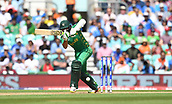 June 18th 2017, The Kia Oval, London, England;  ICC Champions Trophy Cricket Final; India versus Pakistan; Azhar Ali of Pakistan drives the ball for 4