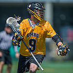 16 April 2016: University of Maryland, Baltimore County Retriever Attacker Mark Monroe, a Senior from Williamsburg, VA, in action against the University of Vermont Catamounts at Virtue Field in Burlington, Vermont. The Retrievers fell to the Catamounts 14-10 in NCAA Division I play. Mandatory Credit: Ed Wolfstein Photo *** RAW (NEF) Image File Available ***
