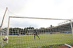05 September 2008: U.S. goalkeeper Brad Guzan watches a shot hit the back of the net during practice. The United States Men's National Team held a training session at Estadio Nacional de Futbol Pedro Marrero in Havana, Cuba in preparation for their 2010 FIFA World Cup Qualifier against Cuba the next day.