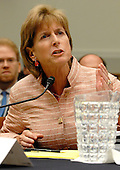 Washington, D.C. - June 25, 2007 -- Former Environmental Protection Agency (EPA) Administrator Christine Todd Whitman gets angry with questions from Rep. Ellison as she testifies before the United States House Constitution, Civil Rights, and Civil Liberties Subcommittee hearing on post 9/11 air quality in New York and the area surrounding the Twin Towers in Manhattan in Washington, D.C. on Monday, June 25, 2007.<br /> Credit: Ron Sachs / CNP<br /> (RESTRICTION: No New York or New Jersey newspapers or Newspapers within a 75 mile radius of New York City)