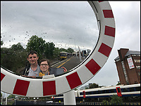 BNPS.co.uk (01202 558833)<br /> Pic: AllTheStations/BNPS<br /> <br /> Basingstoke station.<br /> <br /> A pair of railway enthusiasts are on an epic train journey to become the first people to visit every station in Britain. <br /> <br /> Eccentrics Geoff Marshall, 44, and Vicki Pipe, 34, are three weeks into the adventure, which will see them visit 2,563 stations in just three months. <br /> <br /> The couple of seven years from London began in Penzance and have already visited 750 stations, covering the entire South, South West and much of London. <br /> <br /> After visiting an average of 30 stations per day their trip will conclude in August in Thurso, the British mainland's most northernmost town.