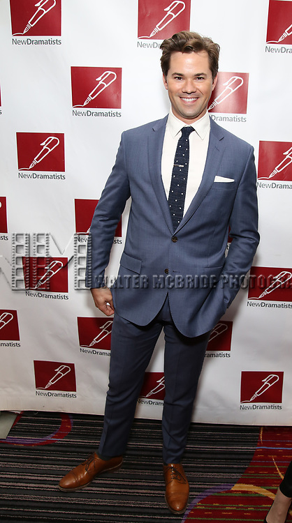 Andrew Rannells attends The New Dramatists' 68th Annual Spring Luncheon at the Marriott Marquis on May 16, 2017 in New York City.