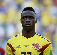 SAMARA - RUSIA, 28-06-2018: Davinson SANCHEZ jugador de Colombia durante los actos protocolarios previo al partido de la primera fase, Grupo H, entre Senegal y Colombia por la Copa Mundial de la FIFA Rusia 2018 jugado en el estadio Samara Arena en Samara, Rusia. / Davinson SANCHEZ player of Colombia during the formal events prior the match between Senegal and Colombia of the first phase, Group H, for the FIFA World Cup Russia 2018 played at Samara Arena stadium in Samara, Russia. Photo: VizzorImage / Julian Medina / Cont