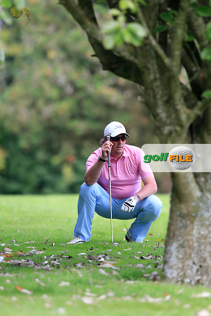David Ryan (Cahir Park GC) during the final round of the Irish PGA Championship, Dundalk Golf Club, Dundalk Co Louth. 04/10/2015<br /> Picture Golffile | Fran Caffrey | PGA<br /> <br /> <br /> All photo usage must carry mandatory copyright credit (&copy; Golffile | Fran Caffrey | PGA)