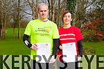 Marathon Runners : Declan McDonagh & Tine Griffin, Listowel who each intend to run 15 marathons in 2015 starting  with the the marathon at the Lillieput Adventure centre, Athlone  and fiishing with the Clonakilty marathon.