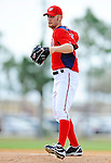 25 February 2012: Washington Nationals' pitcher Stephen Strasburg works on the mound during the first full squad Spring Training workout at the Carl Barger Baseball Complex in Viera, Florida. Mandatory Credit: Ed Wolfstein Photo