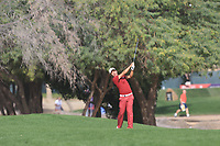 Ashun Wu (CHN) on the 3rd during Round 3 of the Omega Dubai Desert Classic, Emirates Golf Club, Dubai,  United Arab Emirates. 26/01/2019<br /> Picture: Golffile | Thos Caffrey<br /> <br /> <br /> All photo usage must carry mandatory copyright credit (© Golffile | Thos Caffrey)