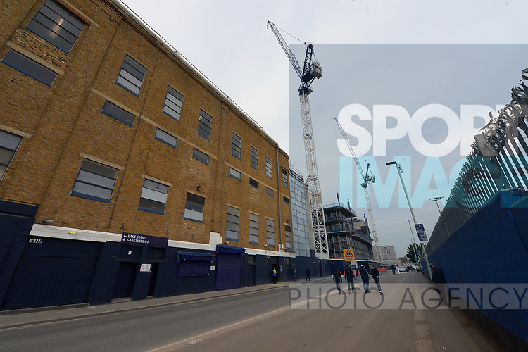 A general view outside of the old and the new building work in progress at White Hart Lane Stadium. English Premier League match at the White Hart Lane Stadium, London. Picture date: April 30th, 2017.Pic credit should read: Robin Parker/Sportimage