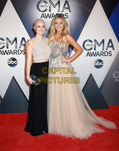 4 November 2015 - Nashville, Tennessee - Allie Allen, Kelsea Ballerini. 49th CMA Awards, Country Music's Biggest Night, held at Bridgestone Arena. <br /> CAP/ADM/LF<br /> &copy;LF/ADM/Capital Pictures