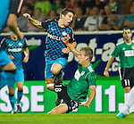 18.08.2011, Keine-Sorgen-Arena, Ried, AUT, UEFA EL, PLAYOFF, SV RIED (AUT) vs PSV EINDHOVEN (NED), Hinspiel, im Bild Dries Mertens (PSV Eindhoven, #14)  vs Thomas Hinum (SV Ried, #18) // during the UEFA Europaleague, 1st Leg Playoff Match, SV Ried against PSV Eindhoven at Keine-Sorgen-Arena, Ried, Austria on 2011-08-18, EXPA Pictures © 2011, PhotoCredit: EXPA/ J. Feichter