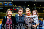 L-R Deirdre Herbert, Ciara Houlihan, Theresa Greaney and little Sophie Mai Herbert supporting the Crotta O'Neill's GAA family night at the Dogs, in the Kingdom Greyhound Stadium last Saturday.