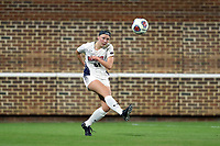 CHAPEL HILL, NC - NOVEMBER 16: Rachel Vernon #21 of Belmont University clears the ball up the field during a game between Belmont and North Carolina at UNC Soccer and Lacrosse Stadium on November 16, 2019 in Chapel Hill, North Carolina.