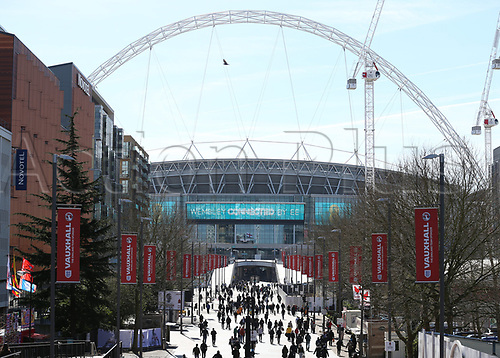 March 26th 2017, Wembley Stadium, London, England; World Cup 2018 Qualification football, England versus Lithuania; England fans arriving at Wembley Stadium